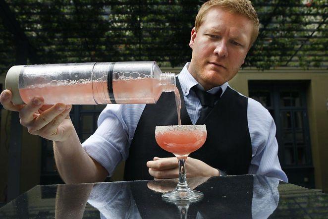 Un Perlini shaker, para hacer cocktails carbonatados