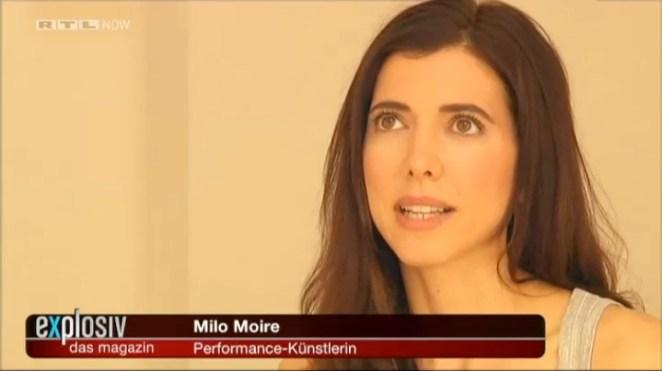 Milo Moire es esta bellisima chica alemana que encontró una manera nueva de crear arte, a la que titula