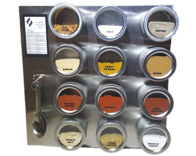 Magnetic spice tins to fix an age-old storage obstacle.