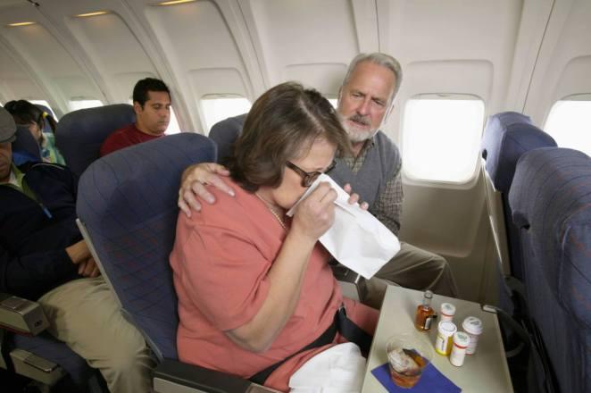 Resultado de imagen para sick on a plane