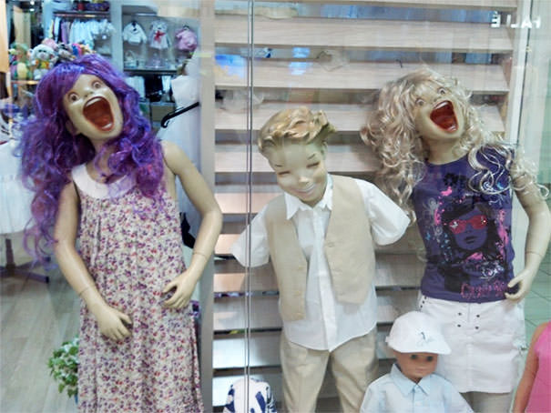 Went To Romania Recently, These Mannequins Gave Me Nightmares
