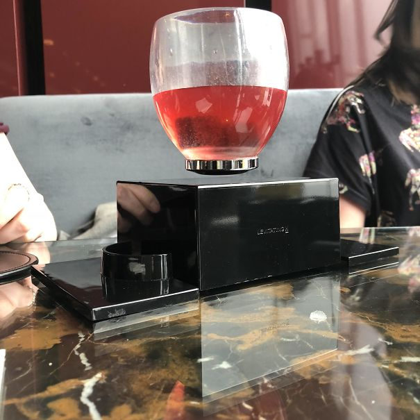 London Bar Served My Girlfriend's Cocktail In A Levitating Glass
