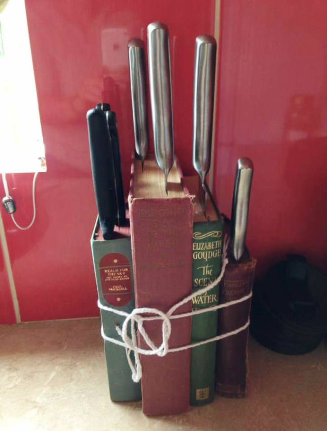 "Upcycled"" Knife Block"