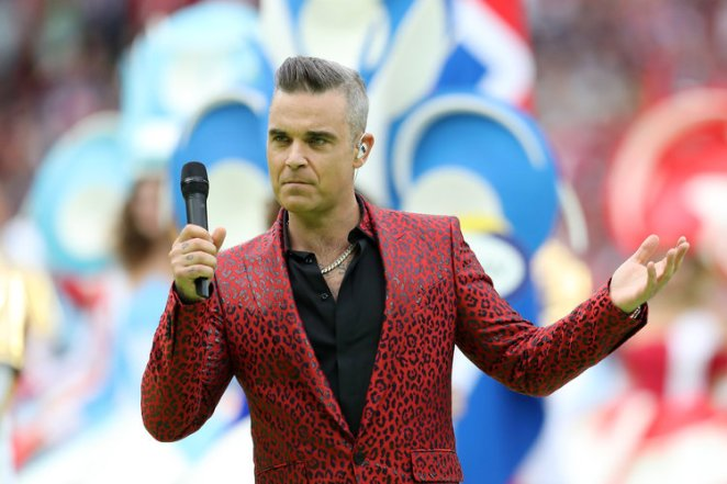 English singer Robbie Williams was a focal point of the World Cup opening ceremony. Before the event, he told ITV that, when he was a boy, he dreamed of performing in the tournament as a soccer player and that now he
