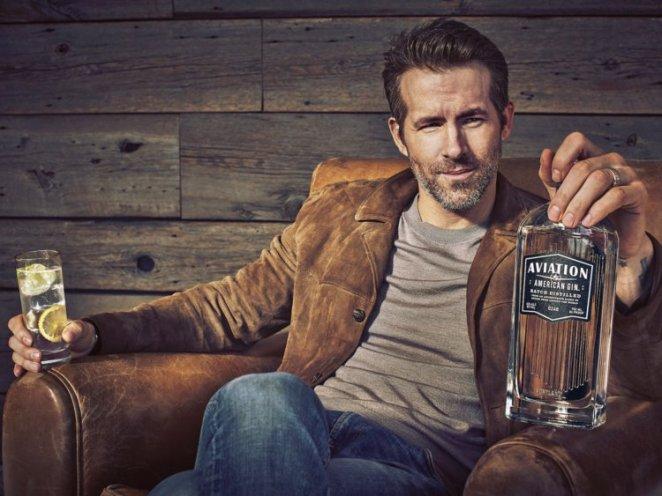 8. Ryan Reynolds, Aviation Gin — £34.75 (.77).