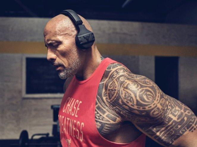 Johnson spent two years working with Under Armour to create the headphones.