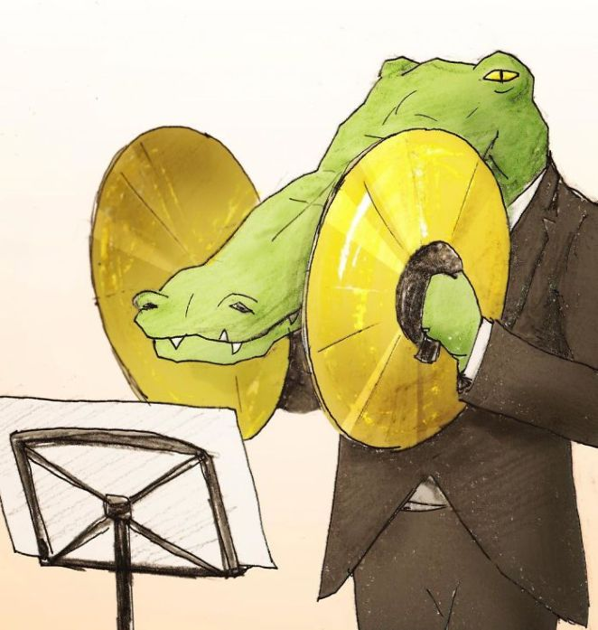 Crocodile-Life-Animals-Illustrations-Keigo-Japan