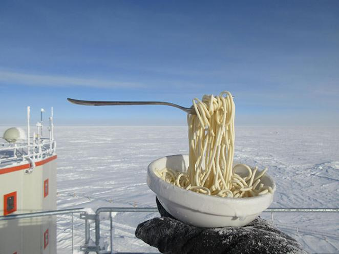 Pic Of Noodles At -60°C: Concordia Research Station, Antarctica