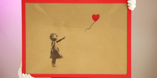 banksy painting self destruct