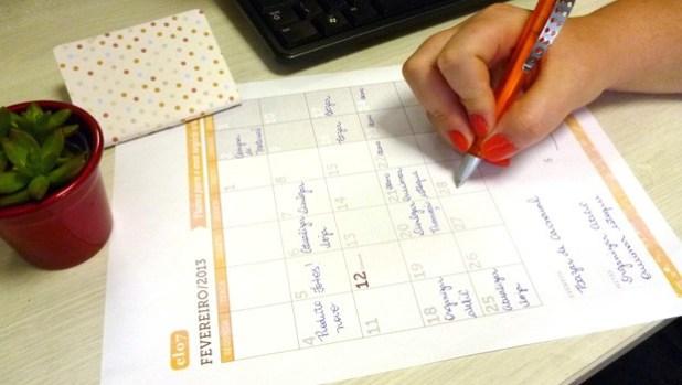 Calendario Elo7 2013