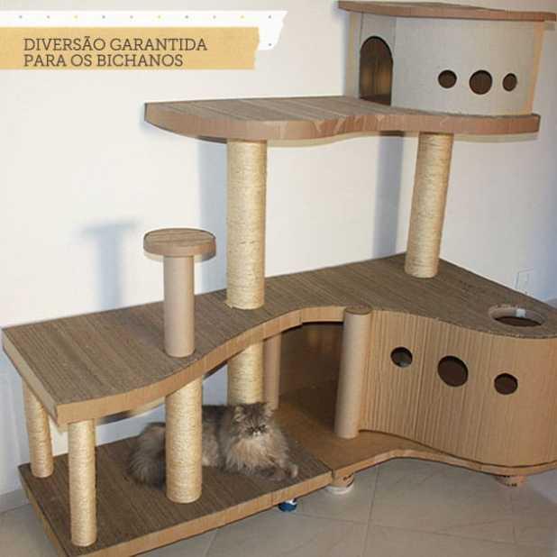 Fa a voc mesmo arranhador de gatos com playground blog - Casas para gatos baratas ...