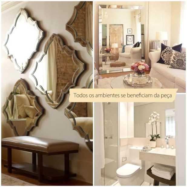 Ambientes ampliados com espelhos