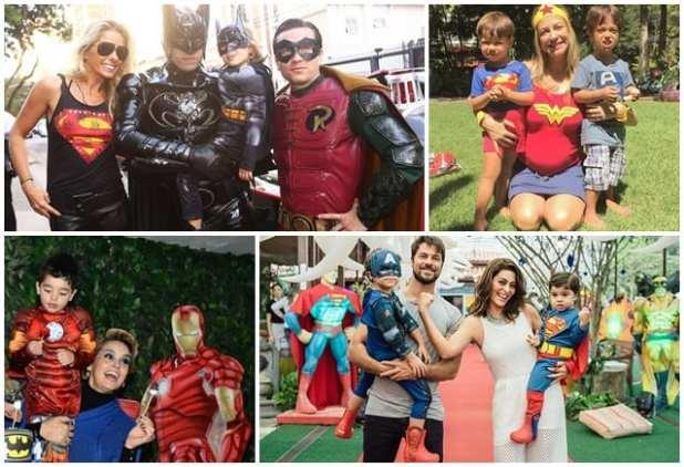 festa de aniversário com fantasia de super herói