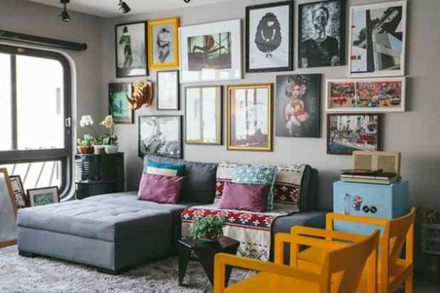 Apartamento criativo e cheio de histórias