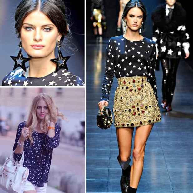 estrelas na moda