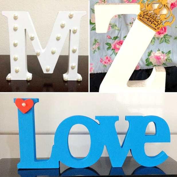 Letras em MDF
