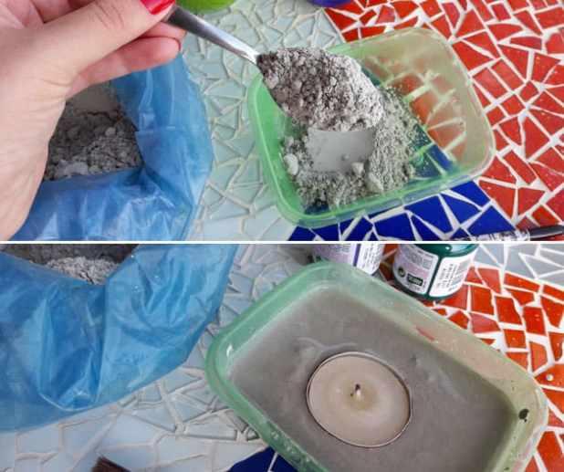 porta-vela de cimento 3