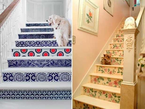 ideias para decorar escada