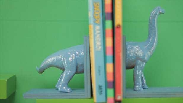 aparador de livro de dinossauro