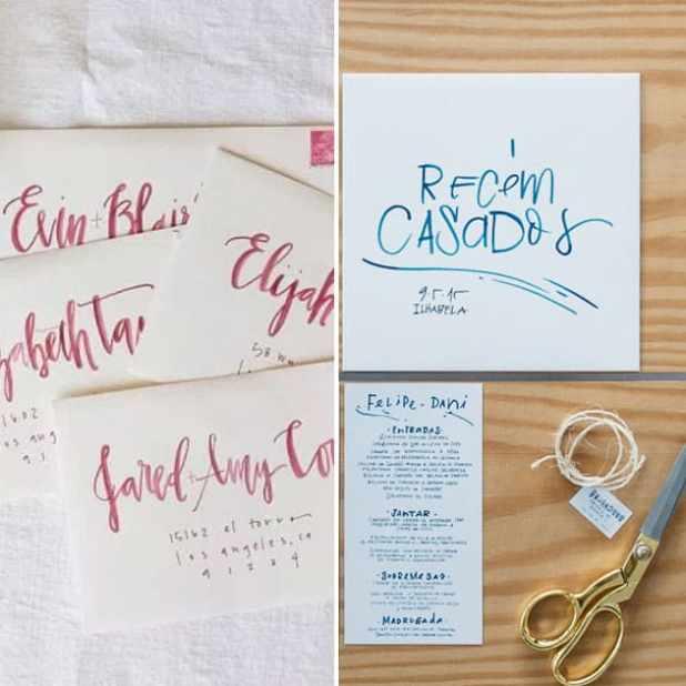 caligrafia no casamento