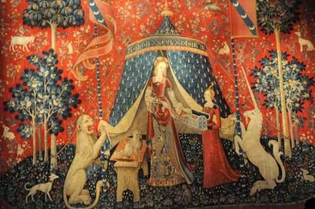 Tape aria contando hist rias em tapetes blog do elo7 - La tapisserie de la dame a la licorne ...
