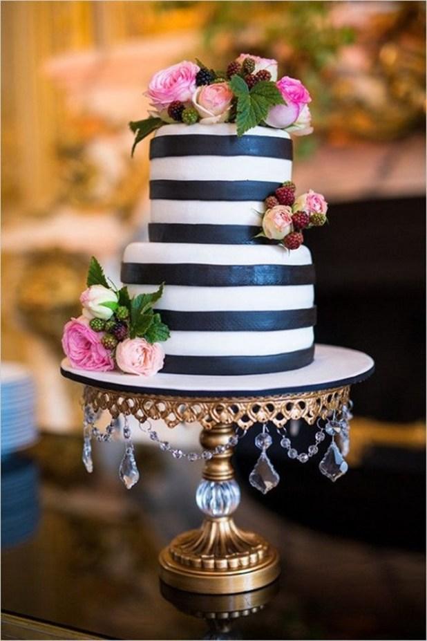 40 ideias para decoração de casamento preto e branco