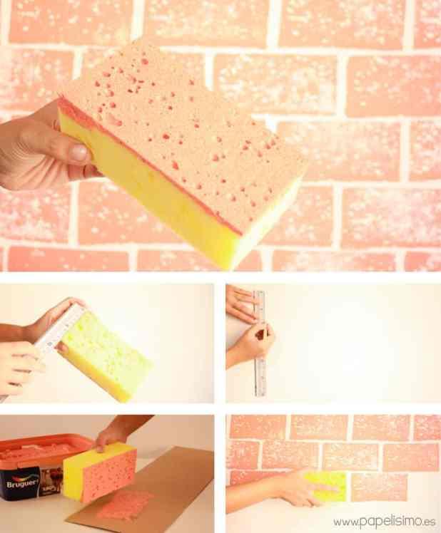 como fazer parede de tijolinho fake