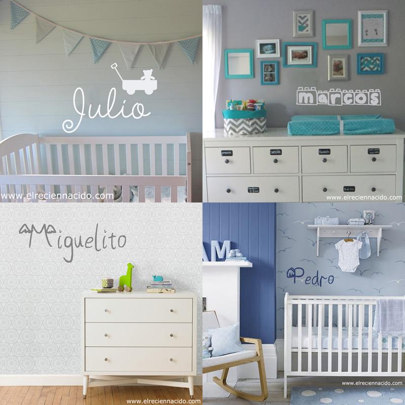 Vinilos personalizados con nombre decoraci n beb s y for Decoracion habitacion bebe recien nacido