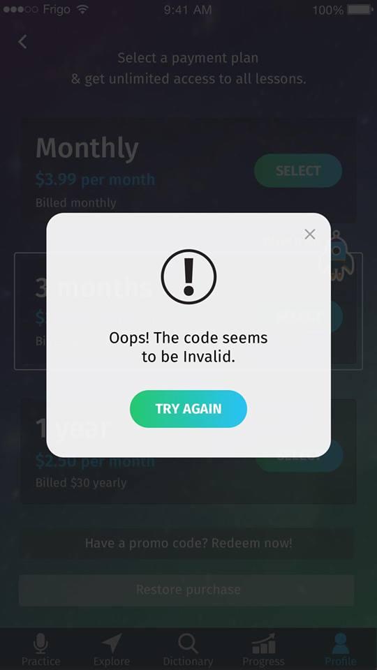 promo code 4