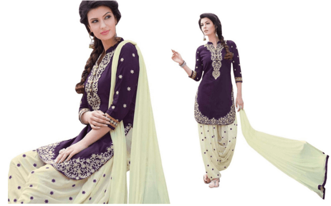 Cotton Embroidered Patiala Suit