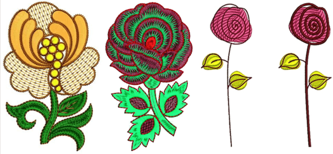 Beautiful Rose Embroidery Designs