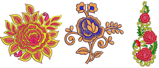 Rose embroidery designs for machine