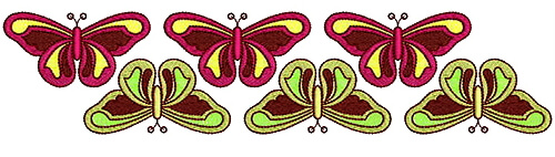 Butterfly Embroidery designs for saree border
