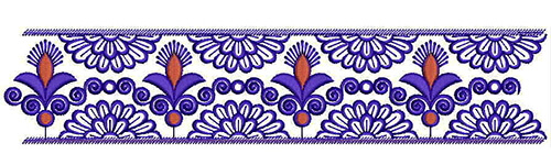 Stem Stitch Embroidery Designs for border