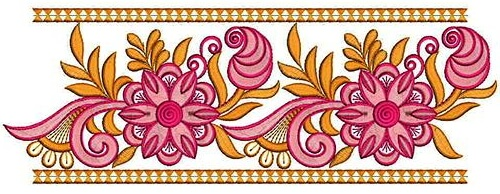 floral embroidery lace border designs