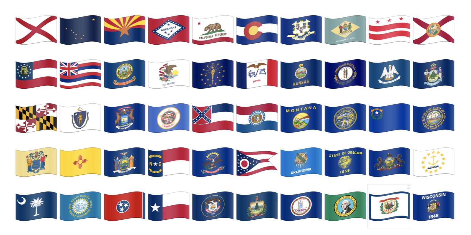 Us State Flag Emojis Now Possible