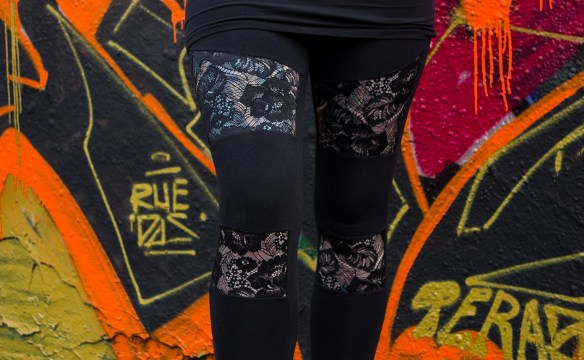 Ladies Lace Inset Leggings von Urban Classics