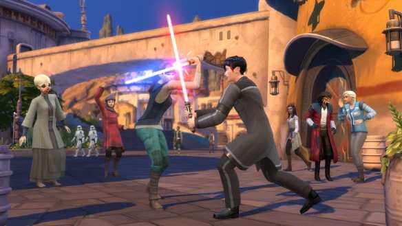 Lichtschwertkämpfe in Die Sims? Scheinbar ja!