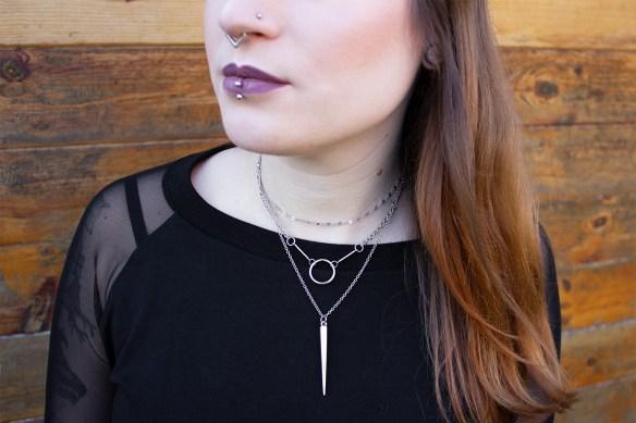 Big Spike Halskette von Rock Rebel By EMP