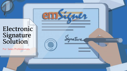 Electronic Signature Solution for Sales - emSigner