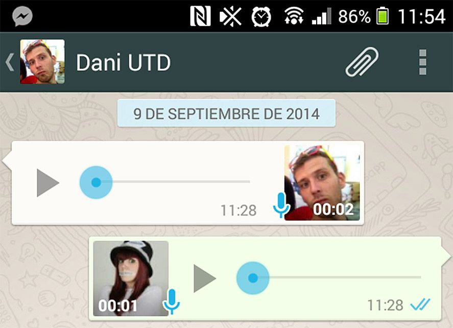 Whats with the blue double check in WhatsApp