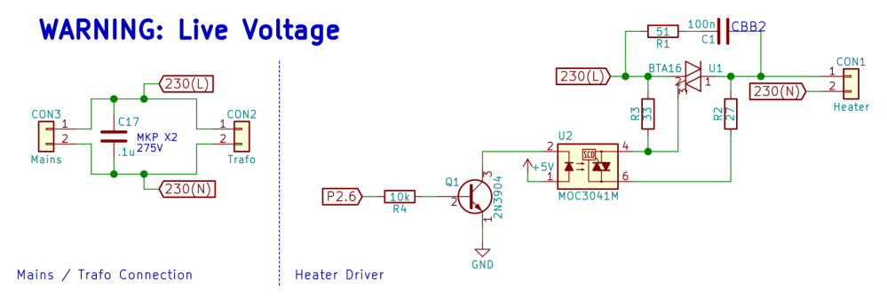 medium resolution of mains connection and heater driver