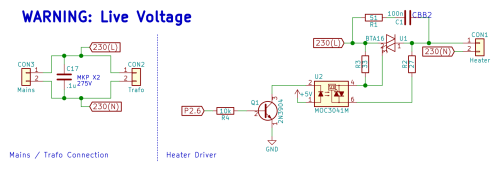 small resolution of mains connection and heater driver