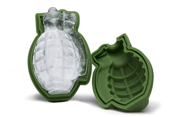 A Grenade Shaped Ice Mold