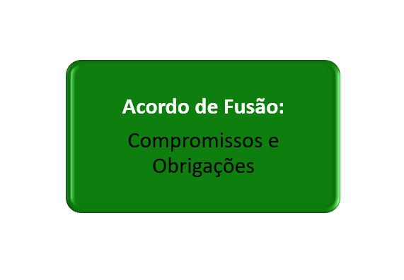 compromissos e obrigações do acordo de fusão