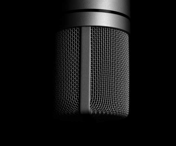 microphone image promoting podcast appearance