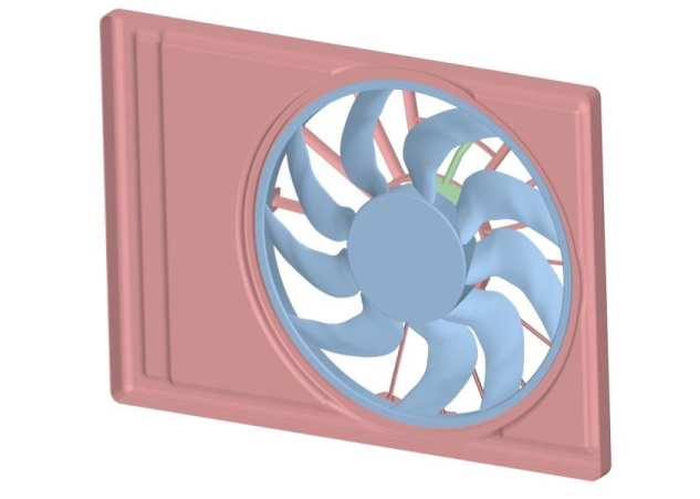 CAD model of cooling fan
