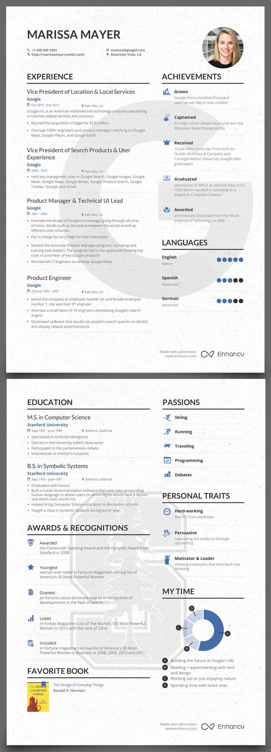 skills focused cv