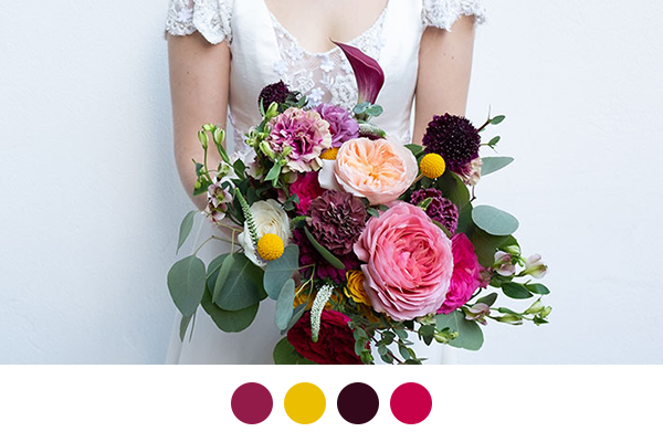 Find the perfect color palette for your spring wedding with our quiz.