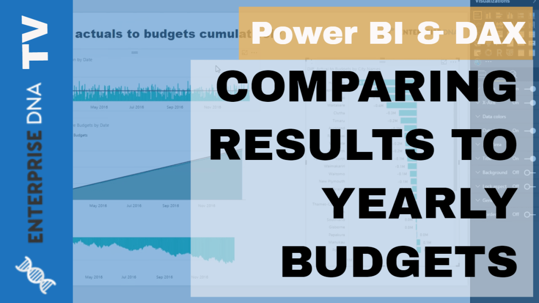 Enterprise DNA Video Tutorial on How to Compare Results to Yearly Budget in Power BI using DAX